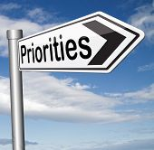 foto of priorities  - priorities important very high urgency info highest importance crucial information top priority dont forget road sign  - JPG