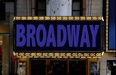 picture of marquee  - The lighted marquee in the big city - JPG
