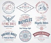picture of winged-horse  - Vector bicycle badges and labels for any use - JPG