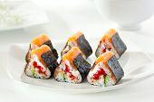 picture of cucumber slice  - Maki Sushi  - JPG
