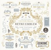 stock photo of flourish  - Vintage Vector Design Elements Collection - JPG