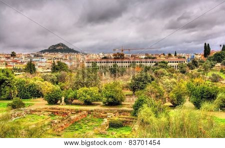 View Of The Ancient Agora Of Athens - Greece