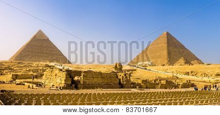 The Great Sphinx And The Pyramids Of Giza - Egypt