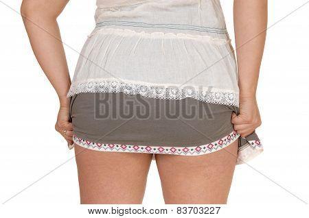 Woman's Behind In Skirt