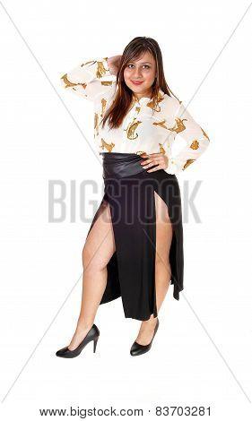 Woman In Nice Skirt