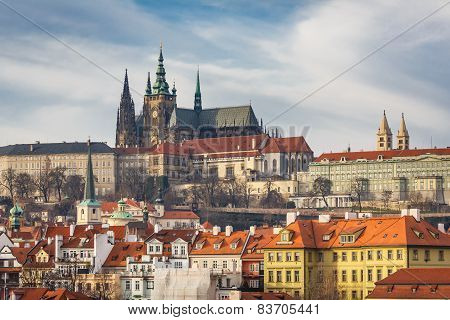View Of The Cathedral Of St. Vitus In Prague