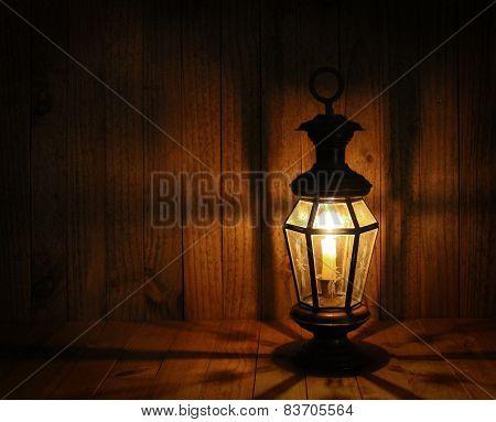 Soft Light of Candle Lantern