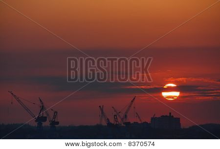 Sunset over Shipyard