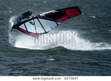 Windsurfer in Jump
