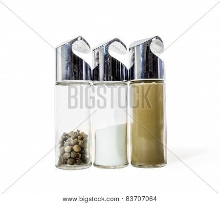Salt And Pepper Set-tableware For Storage Of Spices