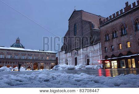 Maggiore Square In Bologna