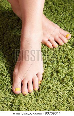 Colorful Gel Polished Finger Toes