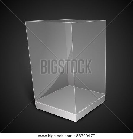 White Glass Rectangle Box
