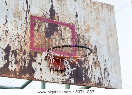Basketball Iron Board, Backboard, Dirty, Grunge, Old