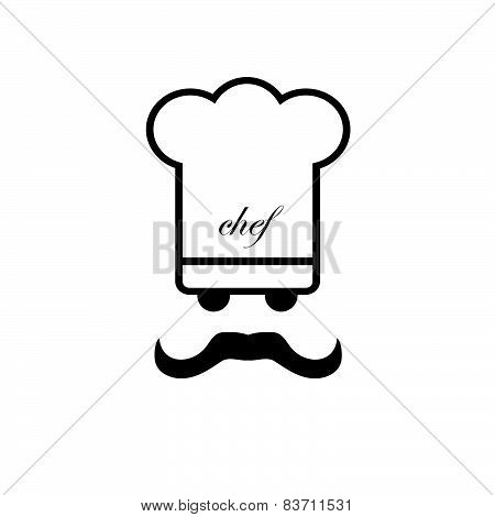 Chef Black And White Vector