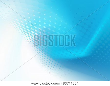 Blue Swirl of Dots Background