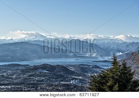 Landscape On The Mountains And Lake