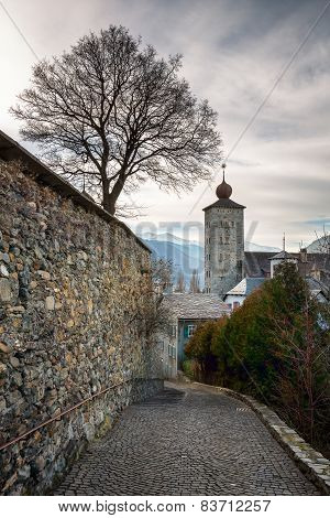 Stockalper Citadel And Defence  Wall In Brig, Switzerland
