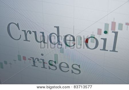 Crude oil rises