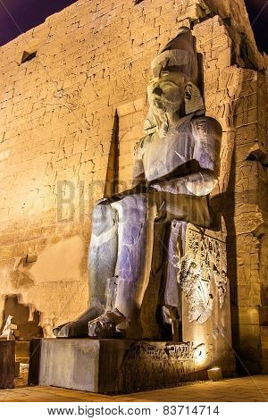 Ancient Statue In Luxor Temple - Egypt