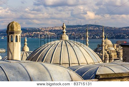 Vew Of Istanbul From The Sueymaniye Mosque - Turkey