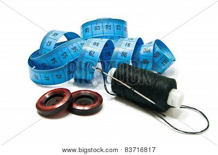 Spool Of Thread, Buttons And Meter
