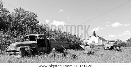 Old Red Farm Truck
