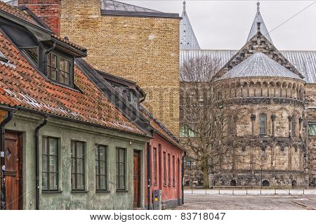 Lund Cathedral Street Scene