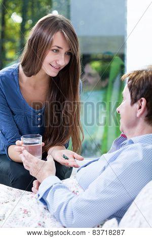 Medicating To Sick Woman