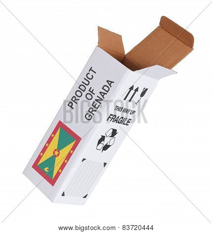 Concept Of Export - Product Of Grenada