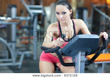 Girl In Fitness Hall