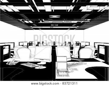 Interior Office Rooms Vector ...