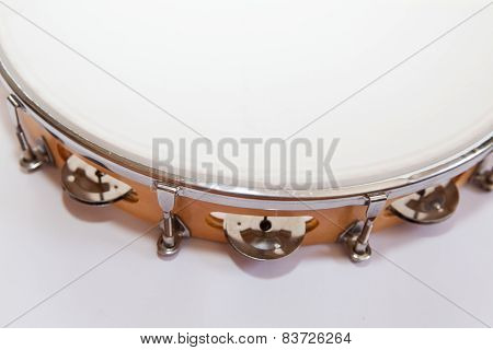 Top Of Tambourine On White Background