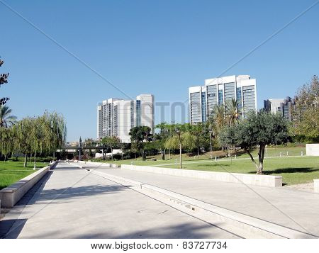 Bar-ilan University View Of Dahan Park