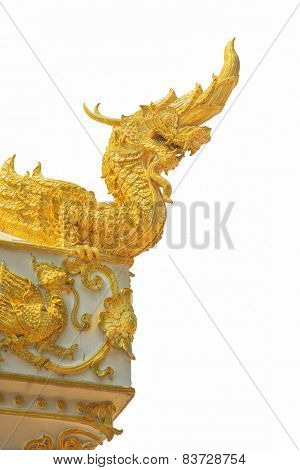Arts of Buddhism - King of Naga statue in Thailand temple.