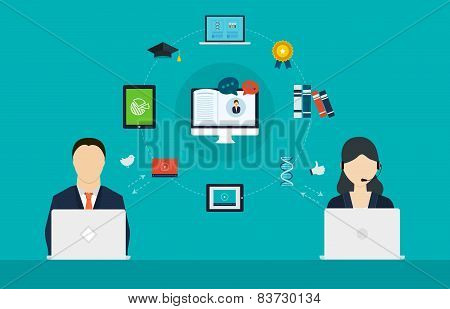 Concept of consulting services and e-learning