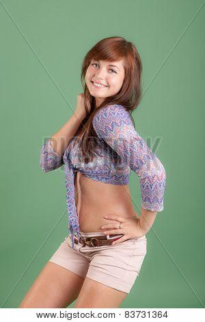 Sensual Cheerful Girl