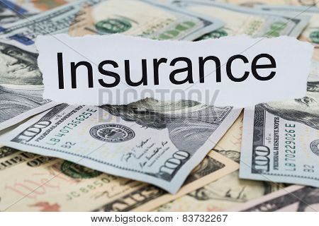 Insurance Text On Piece Of Paper