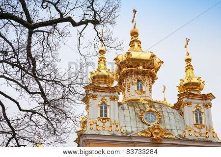 Church Of Saints Peter And Paul In Peterhof By Rastrelli