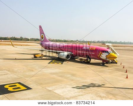 Udonthani, Thailand - May 22 : Nokair Airplane