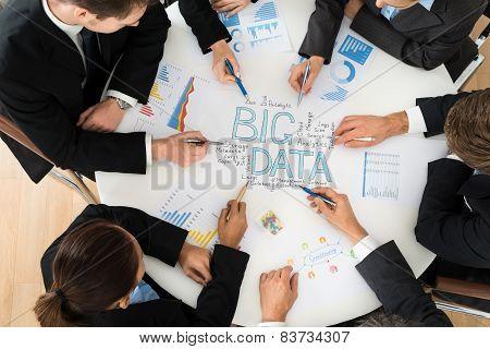 Businesspeople  Planning Bigdata