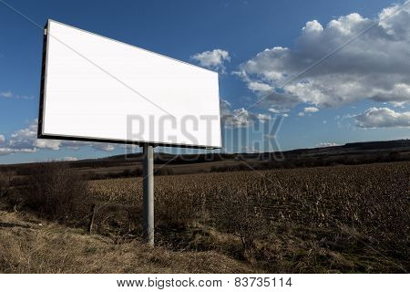 Advertising Billboard And Nature Landscape