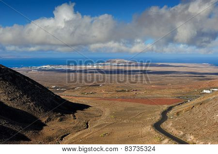 View From Femes, Lanzarote Island, Canary Islands, Spain