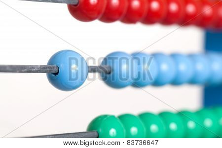 Close Up Colorful Abacus, Selective Focus