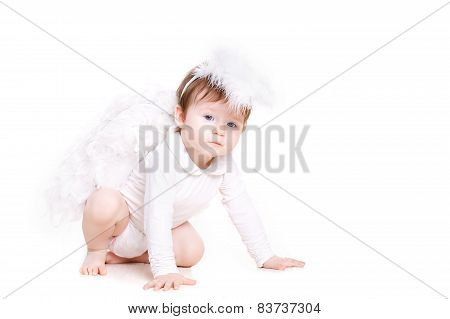 The angelic child, the little girl with white wings.