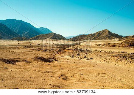 Road through desert Sinai