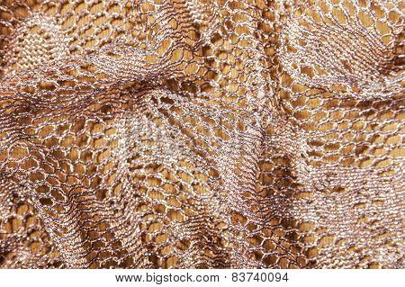 Folded Elegant Golden Lacy Background