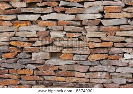 Tiling Sand Stone Wall
