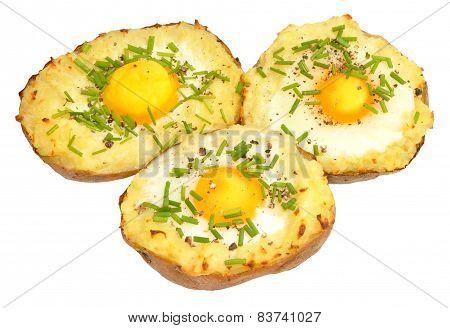 Egg Filled Baked Potatoes