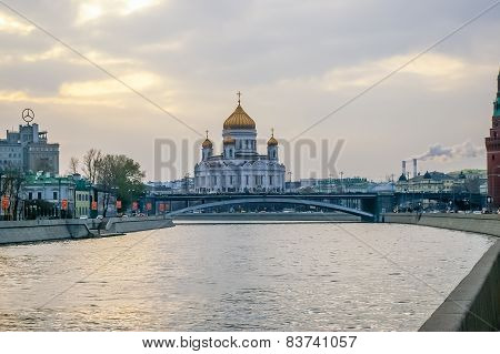 Christ The Savior Cathedral In Moscow